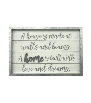 Hello Spring Large Wood Wall Decor-Home is Built with Love