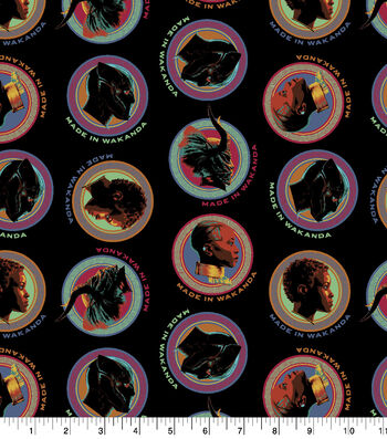 "Marvel Black Panther Cotton Fabric 43""-Made in Wakanda"