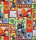 Harry Potter Cotton Fabric 44\u0027\u0027-Stained Glass Windows