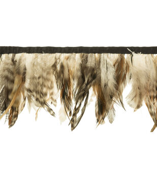 Wrights Feather Trim 5''-Natural