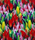 Easter Cotton Fabric 44\u0022-Photo Real Tulips