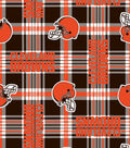 Cleveland Browns Fleece Fabric -Plaid