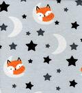Nursery Flannel Fabric-Fox on the Moon
