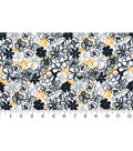 Quilter\u0027s Showcase Fabric -Navy & Gray Allover Floral