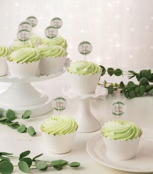 Save the Date Cupcake Picks-Greenery