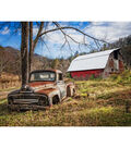 Novelty Cotton Fabric Panel 44\u0022-Barn & The Truck