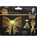 Sara Davies Signature Black & Gold 3 pk Metal Dies-Royal Bows