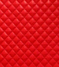 Suedecloth Fabric - Quilted Small Diamond Red Polyurethane