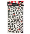 Disney Mickey Mouse Glitter Alphabet & Icons Iron-On Transfer