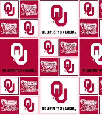 University of Oklahoma Sooners Cotton Fabric -Block