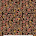 Harvest Cotton Fabric-Pinecones, Leaves & Berries