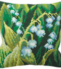 Collection D\u0027Art Stamped Needlepoint Cushion Kit 40X40cm-Muguet Gauche