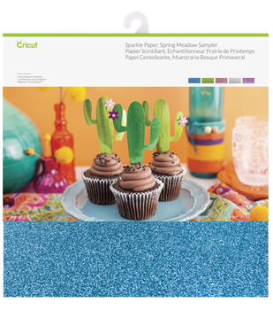Cricut 10 Pack 12''x12'' Sparkle Paper Samplers-Spring Meadow