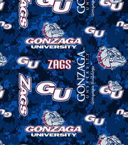 "Gonzaga University Bulldogs Fleece Fabric 60""-Digital Camo, , hi-res"