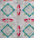 Modern Cotton Fabric -Linked Circles on Cream