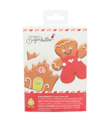 Sweet Sugarbelle Christmas Cookie Cutter Kit-Gingerbread