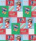 Disney Lilo & Stitch Christmas Cotton Fabric-Ugly Sweater