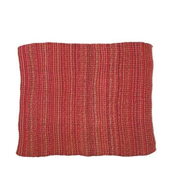 Simply Autumn Chunky Knit Throw-Burgundy