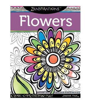 Adult Coloring Book-Design Originals Zenspirations Flowers