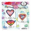Art By Marlene 2.0 Hearts Cling Stamp-Flower Heart