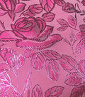 Glitterbug Brocade Fabric 57\u0022-Light Pink