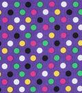 Mardi Gras Cotton Fabric-Multi Dots Purple