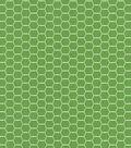 Quilter\u0027s Showcase Cotton Fabric -Hexagon Wire on Kiwi
