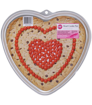 "Wilton Giant Cookie Pan-Heart 11.5""X10.5""X.75"""