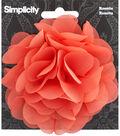 Rosette Flower Accessory Peach