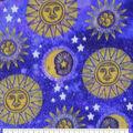 Anti-Pill Plush Fleece Fabric-Celestial Moon