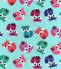 Snuggle Flannel Fabric -Coloful Foxes
