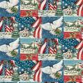 Christmas Cotton Fabric-Patriotic Church Patch