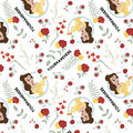 Disney Beauty & the Beast Print Fabric by Springs Creative-Belle Roses