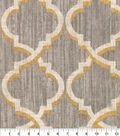 Waverly Multi-Purpose Decor Fabric 54\u0027\u0027-Graphite Lustrous Lattice