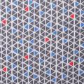 Blizzard Fleece Fabric-Blue Orange Geo