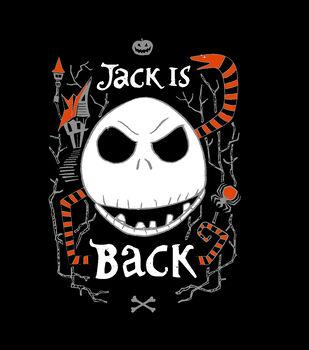 Nightmare Before Christmas No Sew Fleece Throw Fabric-Jack is Back