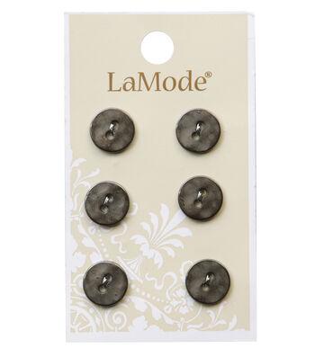 LaMode 2 Hole Gunmetal Buttons