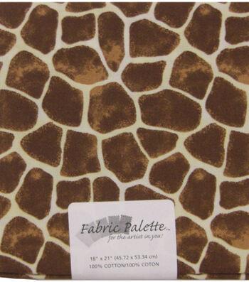 Fabric Palette 1/4yd Pre-cut Cotton Fabric-Giraffe Print