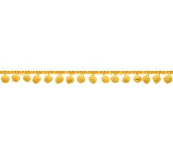 """3/4""""Pom Pom Fringe Yellow Apparel Trim"""
