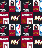 Miami Heat Cotton Fabric -Patch, , hi-res
