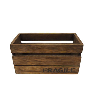Small Wood Crate Container Fragile