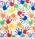 Novelty Cotton Fabric 43\u0027\u0027-Hand Prints