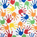 Novelty Cotton Fabric -Hand Prints