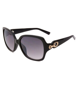 Sunglasses with Square Opaque Lens-Smoke Black