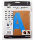 FolkArt 30 pk 6\u0027\u0027 Alphabet & Monogram Paper Stencils-Bold Font