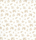 Quilter\u0027s Showcase Cotton Fabric -Tan Tossed Ditsy Floral