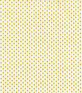 Christmas Cotton Fabric-Gold Holiday Dots on Cream