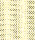 Christmas Cotton Fabric 44\u0022-Gold Holiday Dots on Cream