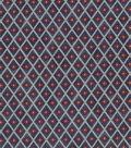 Vintage Cotton Fabric 43\u0027\u0027-Quartrefoil Diamond on Blue