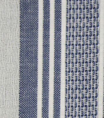Cotton Fabric 42''-Blue & White Variegated Stripe